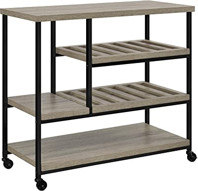 Compact Multi-Purpose Cart, Four Casters for Easy Movement, Various Slatted Shelves to