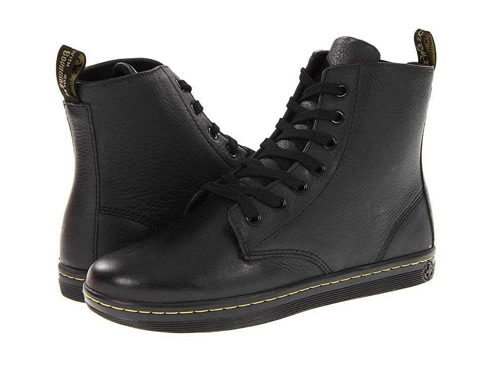 Dr. Martens Leyton 7-Eye Boot (Black) Women