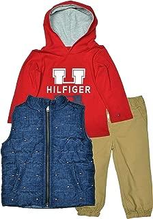 Little Boys' 3 Piece Vest/Hoodie/Pants Outift Set