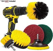 U UZOPI Juego de taladros de limpieza con cepillo eléctrico inalámbrico 6 piezas