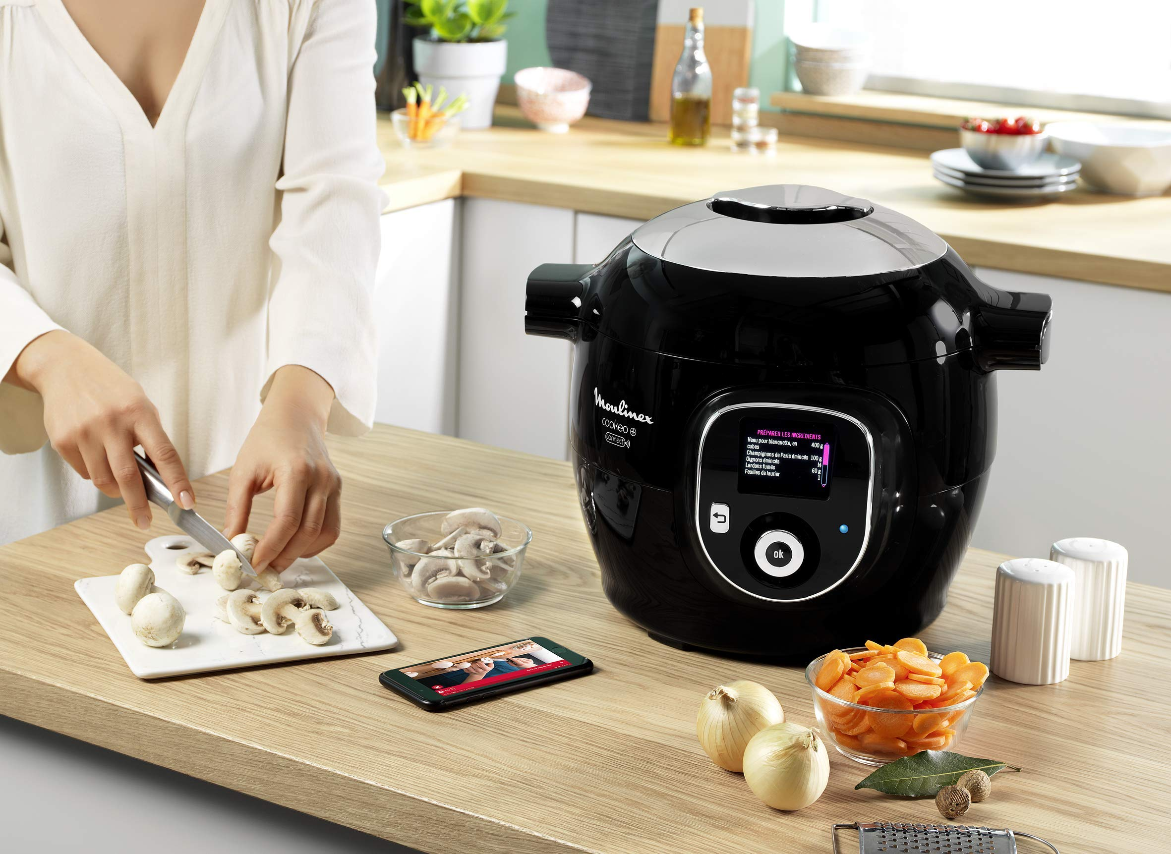 Moulinex Cookeo + Connect olla multi-cocción 6 L 1200 W Negro ...
