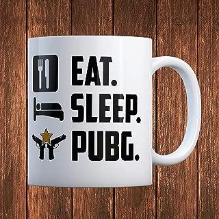 Dozili Eat Sleep Pubg Coffee Muggreat Gift For Gamers Custom Mugs By Expression Mugs, 11 Oz, White