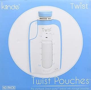Kiinde Breast Milk Storage Twist Pouch (6 oz - Pack of 40)