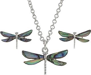 """Colibrì Ciondolo Paua Abalone Shell Ciondolo Argento Fashion Jewellery 18/"""""""