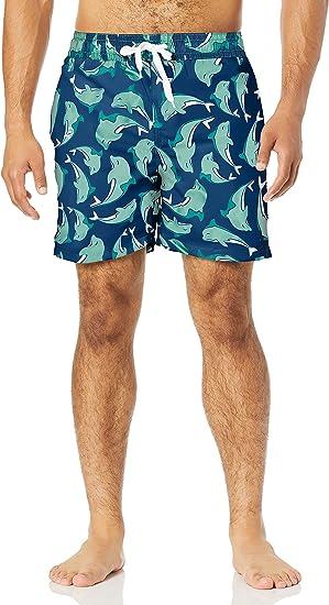 5. Men's Swim Trunks with Dolphin Print