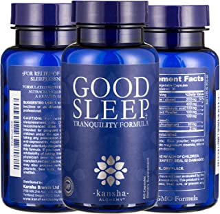 2-Pack Natural Sleep Aid with Melatonin, L-Theanine, Magnesium, GABA & an Advanced Blend of Chinese Root Powders for a Deeper, More Fulfilling Sleep, 120 Caps