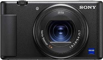 كاميرا Sony ZV-1 Vlog مع انتقال سريع ودقيق، بوكيه برو الجودة، إعداد عرض المنتج، شاشة متغيرة الزاوية وفيديو بدقة 4K HDR...