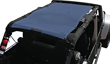 ALIEN SUNSHADE Jeep Wrangler Mesh Shade Top Cover with 10 Year Warranty Provides UV Protection for Your 4-Door JKU (2007-2017) (Steel Blue)