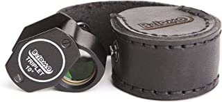 BelOMO 10x Triplet Loupe Magnifier with LEATHER CASE. 21mm (.85
