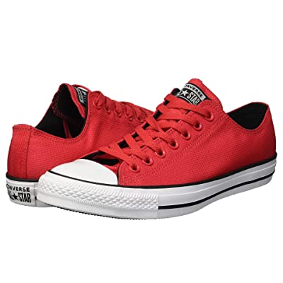 Converse Chuck Taylor All Star Lightweight Nylon Ox (Cherry Red/Black/White) Men