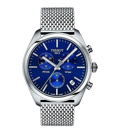 Tissot PR 100 Chronograph T1014171104100 (Blue/Silver) Watches