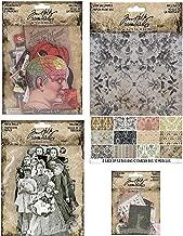Tim Holtz 2019 Halloween Paperie - Worn Wallpaper, Halloween Paper Dolls, Ephemera, Snippets and Storage Pockets