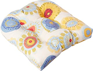 """Pillow Perfect Outdoor/Indoor Crosby Confetti Tufted Seat Cushions (Round Back), 19"""" x 19"""", Multicolored, 2 Count"""