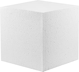 MT Products Hard Foam Blocks (4 Pack) | 6 x 6 x 6 Inch Non-Squishy Craft Foam Cubes | Polystyrene Brick for Arts and Crafts, Sculptures, Floral Arrangements, Modeling, Centerpieces & More
