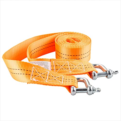 popular Cartman Heavy lowest Duty Tow discount Strap with Safety Hooks, 6,600 LBs Capacity, Tow Belt U Hooks outlet sale