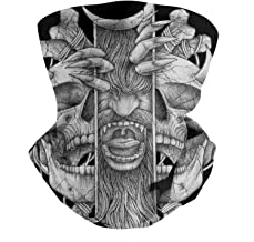 Cool Skull Art Drawing Balaclava Face Covering Seamless Face Cover MenUV Protection