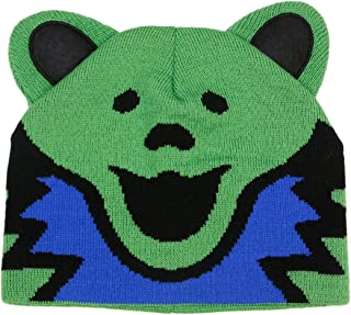 Grateful Dead Bear Head Knit Beanie Skull Cap Winter Hat - 2 Colors