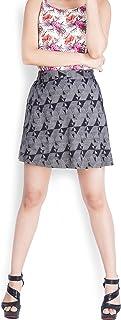 Zink London Grey Geometric Circular Short Skirt for Women