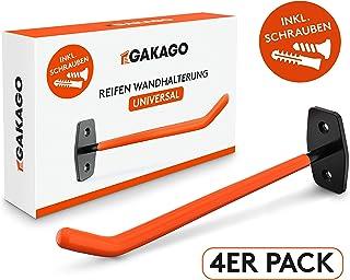 Reifenhalter Felgenhalter Wand Autoreifenhalter Set Grundplatte 15x12cm TYSON
