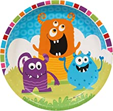 BirthdayExpress Aliens and Monsters Party Supplies - Dinner Plates (8)