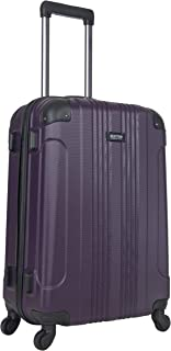 Kenneth Cole Reaction Out of Bounds 24-Inch Check-Size Lightweight Durable Hardshell 4-Wheel Spinner Travel Luggage, Deep Purple