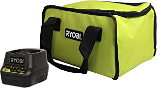 Ryobi P118B 18V Battery Charger and Soft-Sided Power Tool Bag with Cross X Stitching and..