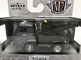 M2 Machines by M2 Collectible Titanium 1966 Dodge L600 Tow Truck 1:64 Scale TI01 17-09 Grey Details Like NO Other! 1 of 5880
