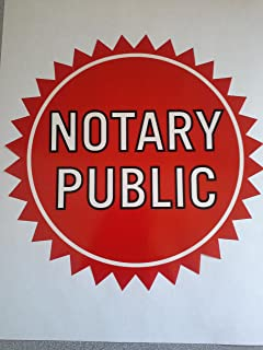 Notary Window Decal