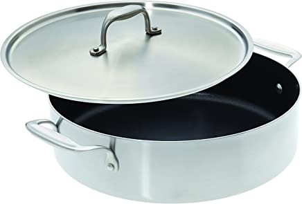 "American Kitchen Cookware Nonstick Casserole Pan with Lid (12"")"
