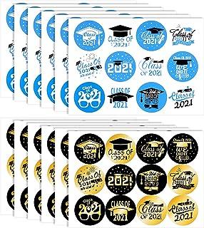 Graduation Party Supplies 2021, Konsait 120pcs Class of 2021 Graduation Self-adhesive Stickers for Graduation Cards, Envel...