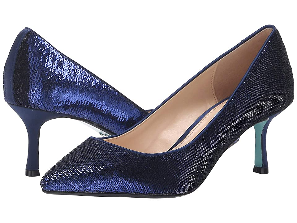 Blue by Betsey Johnson Kamie (Navy Sequins) High Heels