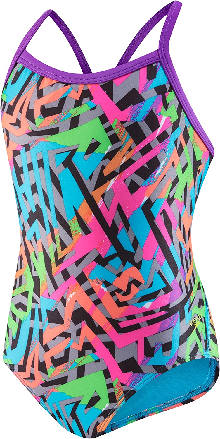 Speedo Women's Swimsuit One Our shop most popular Piece Printed-Disc Back Department store Prolt Propel