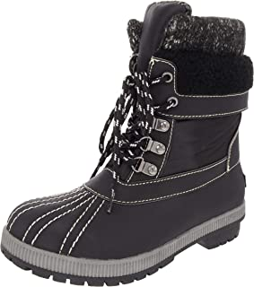 London Fog Womens Mitten Cold Weather Duck Boot for Snow