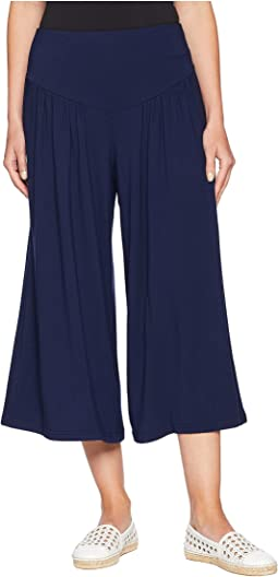 Lazy Sunday French Terry Cropped Wide Leg Pants