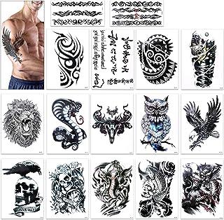 comprar comparacion Tatuajes temporales para adultos hombres, Konsait Grande Tatuaje Temporales temporär Tattoo tatuaje cuerpo pegatinas Brazo...