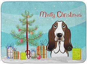 "Caroline's Treasures Christmas Tree and Basset Hound Floor Mat 19"" x 27"" Multicolor"