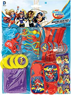 Amscan Party Centre Dc Superhero Girls Mega Mix Value Pack 48 Pieces