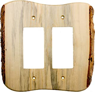 Sierra Lifestyles Rustic Switch Plate, 2 Rocker Finished, Blued Pine