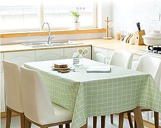 Nappe Rectangulaire en Plastique PVC facile à nettoyer et étanche pour cuisine, pique-nique, fête d'enfants (plaid vert, 1...