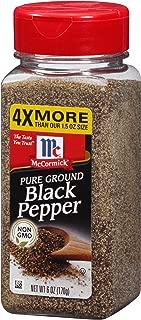 McCormick Pure Ground Black Pepper, 6 oz