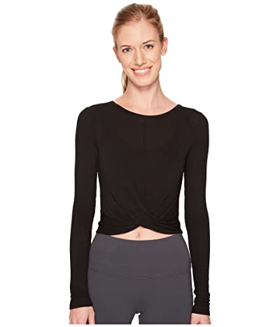 ALO Cover Long Sleeve Top (Black) Women