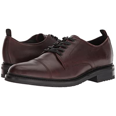 Frye Officer Oxford (Brown Smooth Pull Up/Scotch Grain) Men