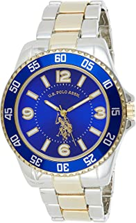 U.S. Polo Assn. Men's Quartz Watch, Analog Display and Gold Plated Strap USC80514