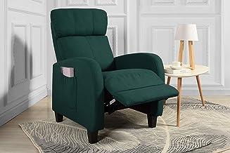 كرسي استرخاء يدوي رفيع يمكن امالة ظهره ورفع مسند القدمين لغرفة المعيشة من كاسا أندريا ميلانو (اون خضر)