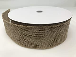 Floral Supply Online - Faux Burlap Wired Edge Jute Ribbon. (2.5