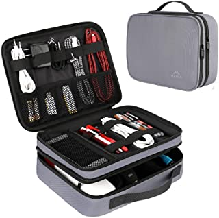 Cord Organizer Bag, Travel Universal Cable Organizer Case Durable Accessories Pouch with Handle, Small Electronic Carrying...