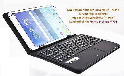 MQ Fujitsu Stylistic M702 Tastatur Tasche mit Touchpad H lle mit Bluetooth Tastatur f r Fujitsu Stylistic 10 1 Touchpad unterst tzt Scroll- amp ab Android 4 4 Zoom-Funktion Layout Deutsch Schätzpreis : 49,90 €