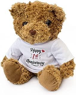 London Teddy Bears NEW - Happy 1st Anniversary - Teddy Bear - Cute Soft Cuddly - Gift Present 1 Year