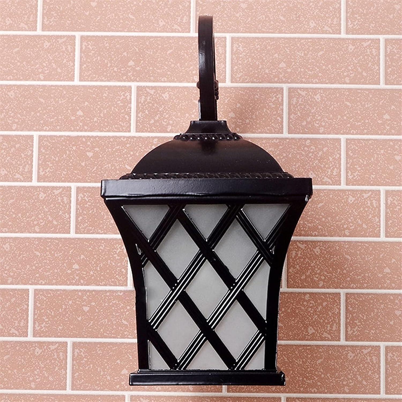 Outdoor Retro Glass Lantern 2021 new Black Bronze Up Wall Bulb E27 Lamp Branded goods D