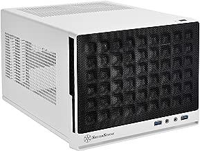 SilverStone SST-SG13WB - Carcasa de ordenador compacta cubo Sugo Mini-ITX, Panel frontal de rejilla, negro blanco